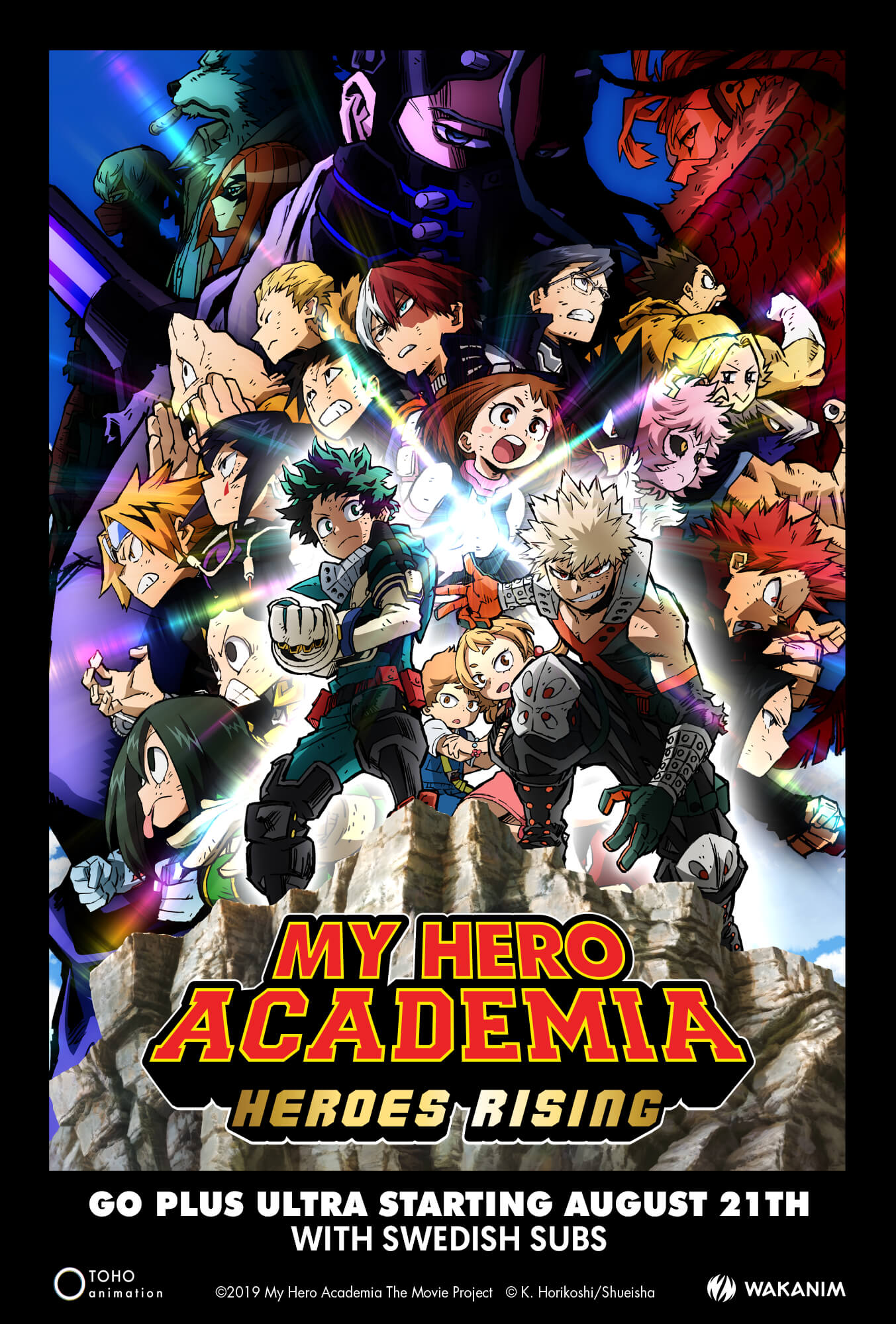 Filmposter för my Hero Academia: Heroes Rising